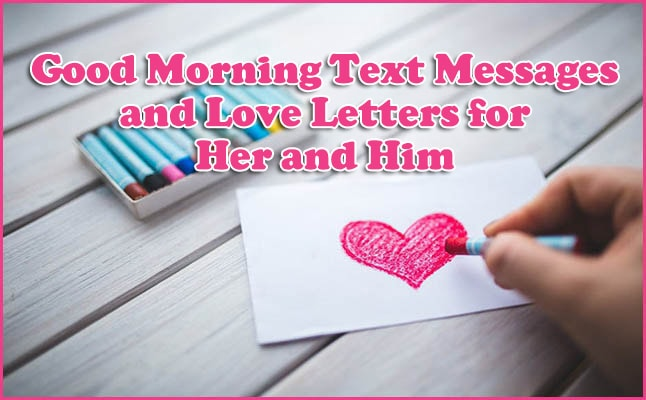 love picture about good morning text messages for him and her