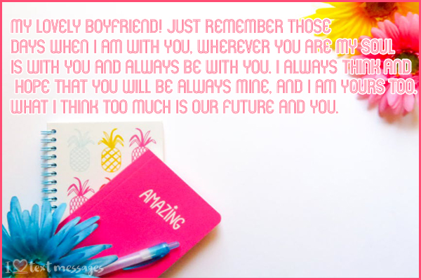 Cute Paragraphs for Send To Your Boyfriend