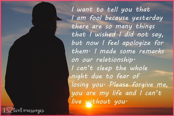 Paragraphs For Boyfriend or Husband After an Argument