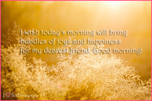 Good Morning Messages and Prayers for Friends