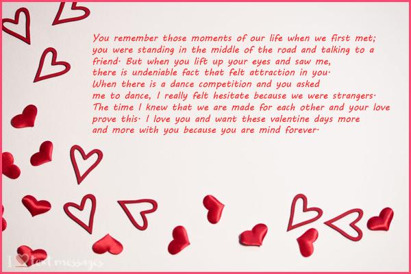 Valentine's Paragraphs for Him