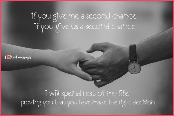 Second Chance Sayings for Boyfriend