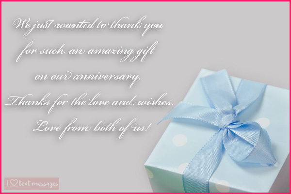 Perfect Thank You Messages for a Gift Received on Your Anniversary