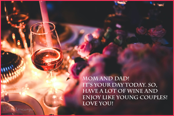 Happy Wedding Anniversary Messages for Parents