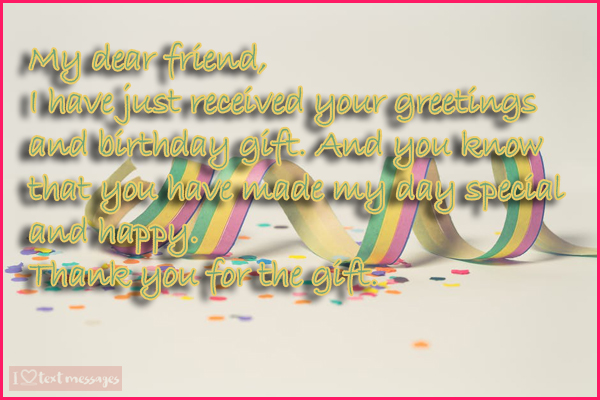 Perfect Thank You Messages For A Gift Received On Your Birthday
