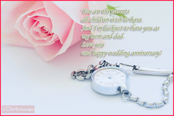 Wedding Anniversary Greetings for Parents